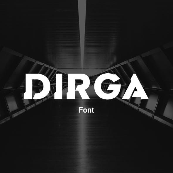 Dirga Font - Extra Bold Style