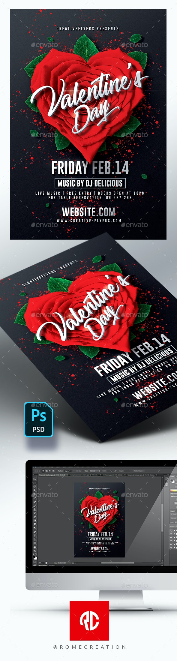 Valentine's Day Invitation Flyer - Events Flyers