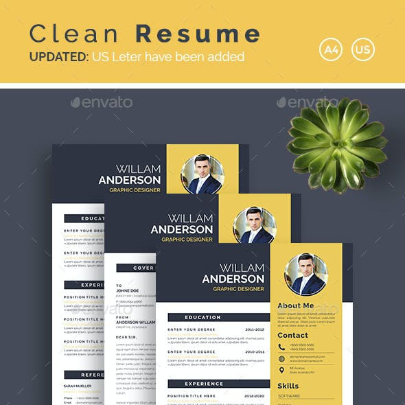 Clean Resume & Cover Letter Template