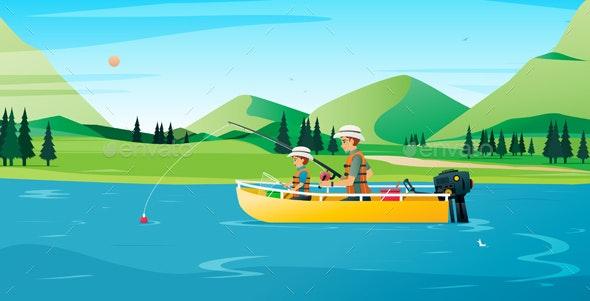 Fishing - Sports/Activity Conceptual