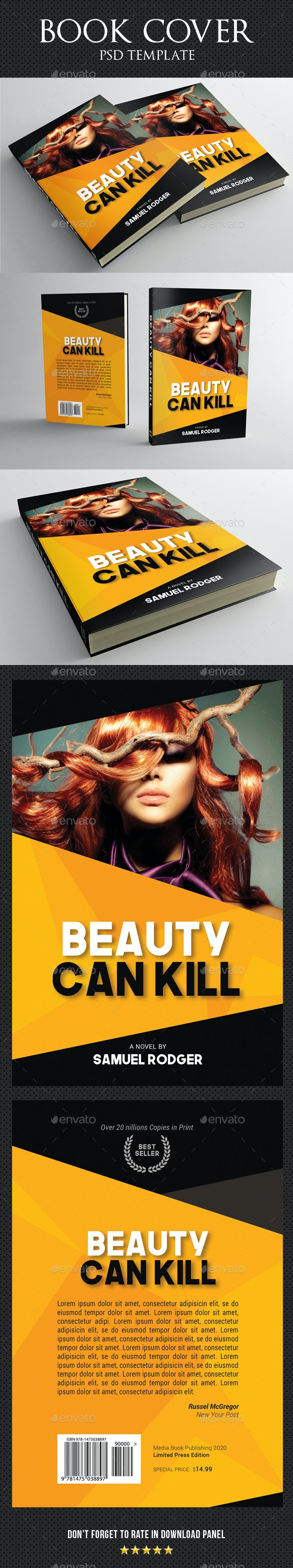 Book Cover Template 68 - Miscellaneous Print Templates