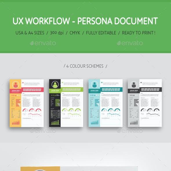 UX Workflow - Persona Document - Volume 01