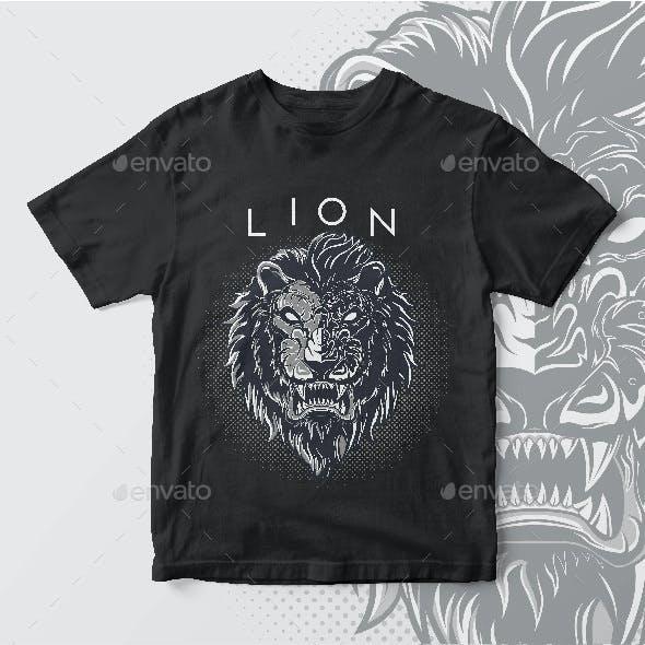 Dark Lion T-Shirt Design