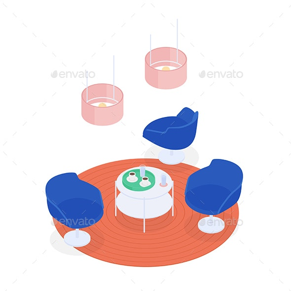 Isometric Cafe - Man-made Objects Objects