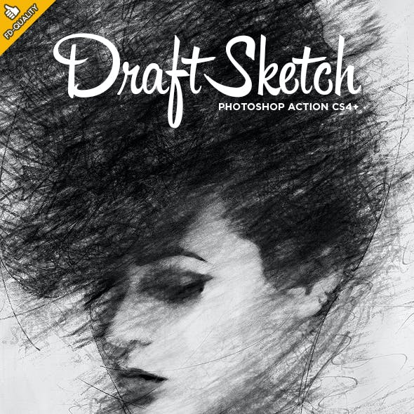 Draft Sketch CS4+ Photoshop Action