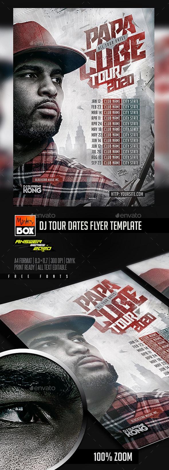 DJ Tour Dates Flyer Template - Concerts Events