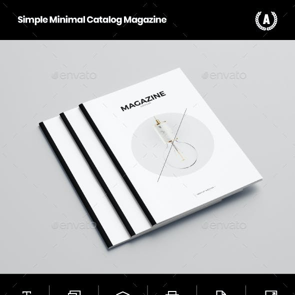 Simple Minimal Catalog Magazine by AbraDesign