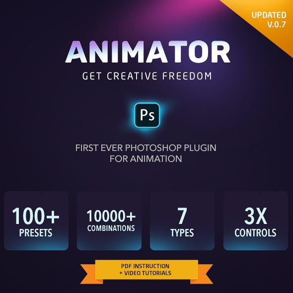 Animator Photoshop Plug-in for Animated Effects