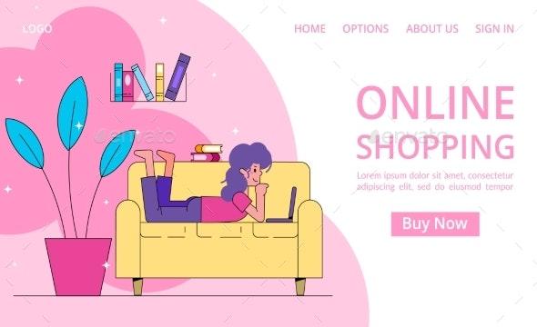 Online Shopping Vector Illustration - Retail Commercial / Shopping