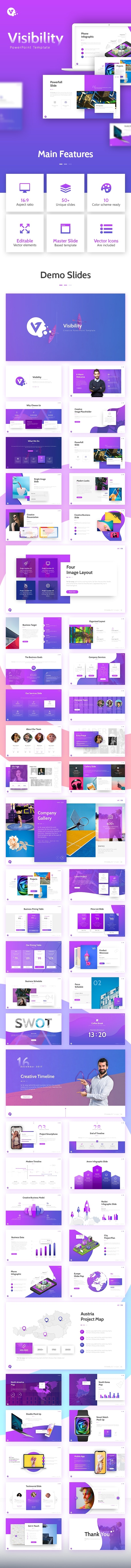 Visibility - Creative Business Powerpoint Template - Business PowerPoint Templates