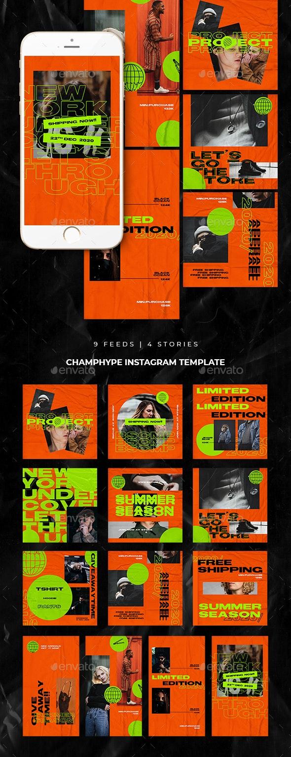 Champhype Instagram Templates - Social Media Web Elements
