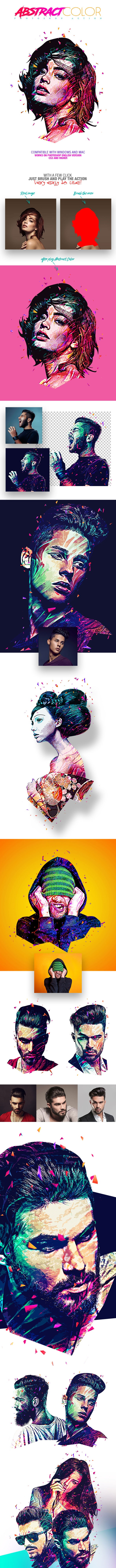 Abstract Color Photoshop Action - Photo Effects Actions