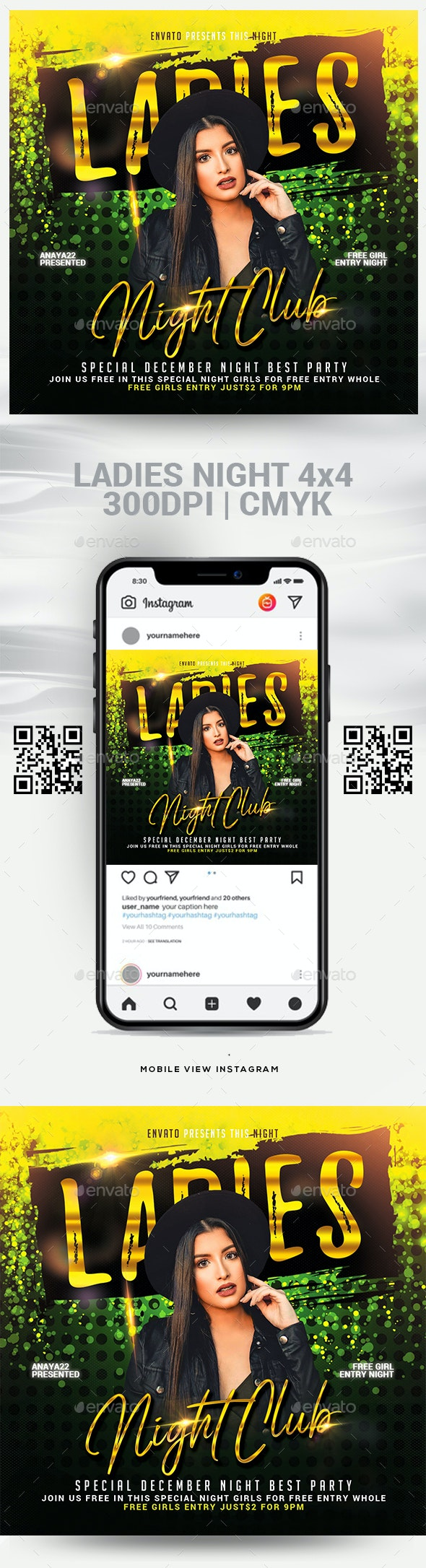Ladies Club Night Flyer Template - Clubs & Parties Events
