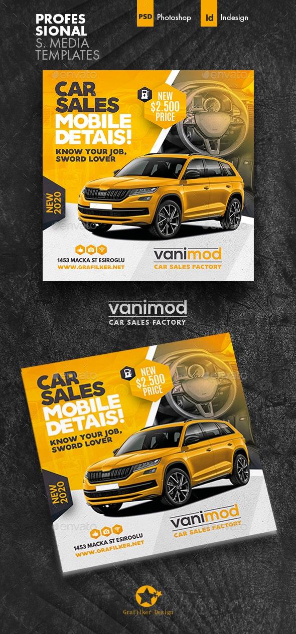 Car Sales Social Media Templates - Social Media Web Elements