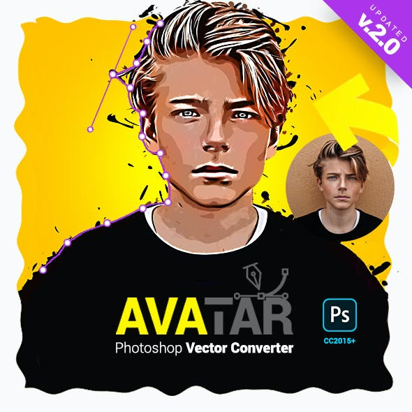 Vector Converter - Avatar - Photoshop Plugin