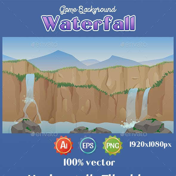 Game Background Waterfall