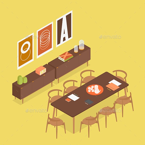 Modern Isometric Conference Room - Man-made Objects Objects