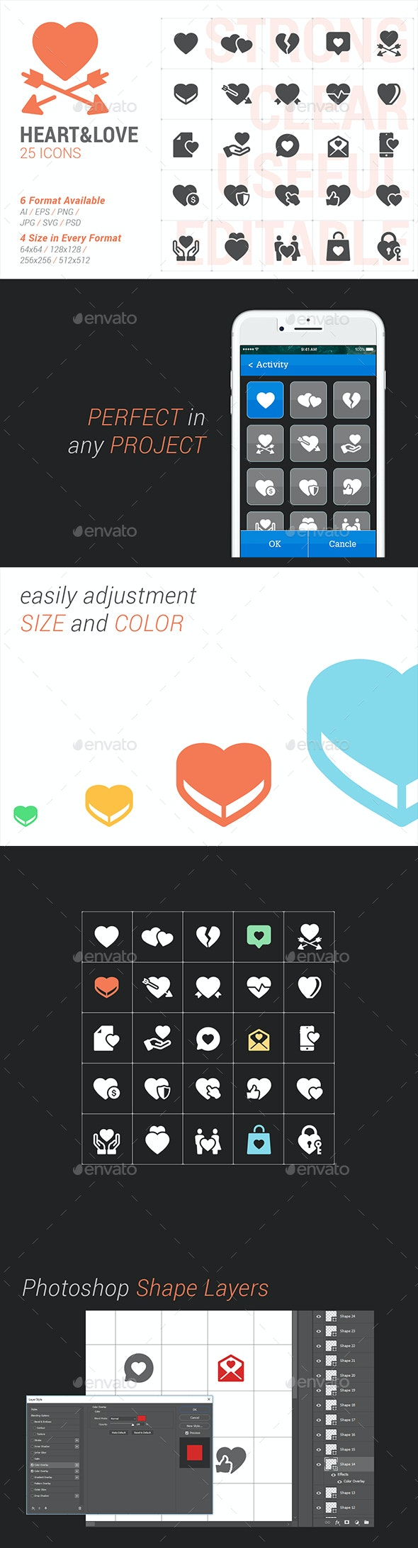 Heart & Love Filled Icon - Objects Icons