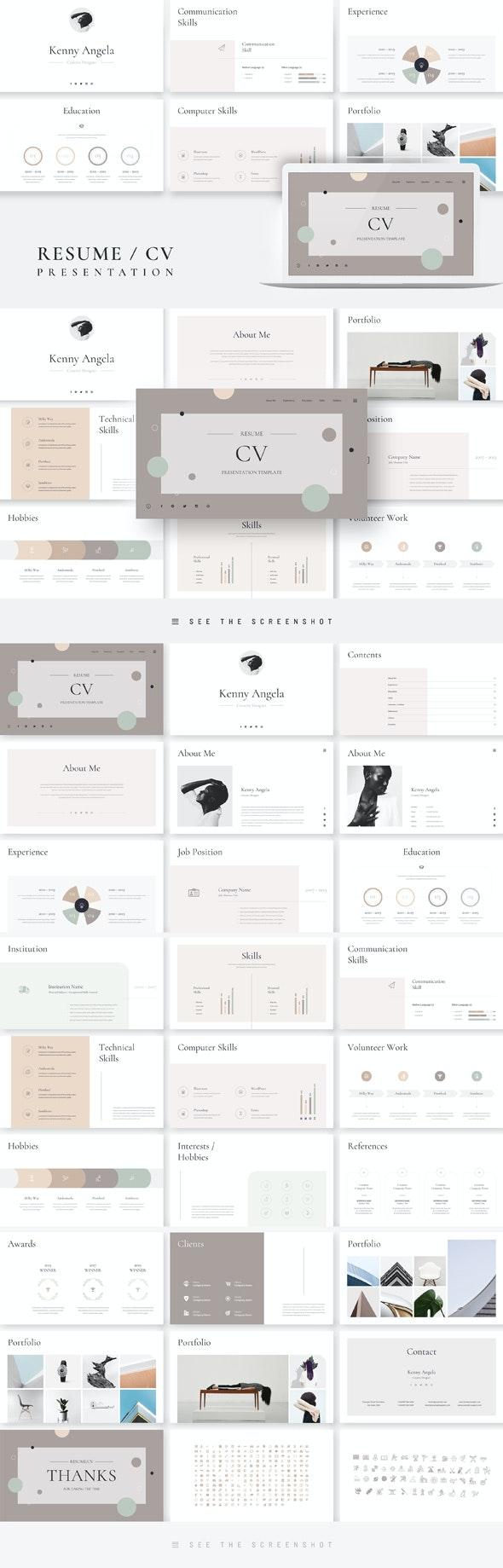 Resume CV Google Slides Presentation Template - Google Slides Presentation Templates