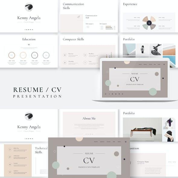 Resume CV Google Slides Presentation Template