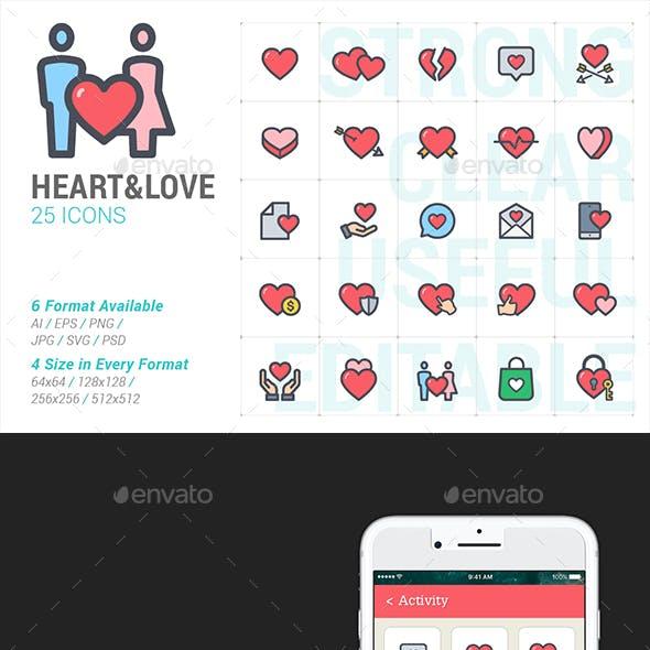 Heart & Love Full Color Icon