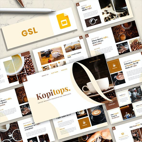 Kopitops – Coffee Business Google Slides Template