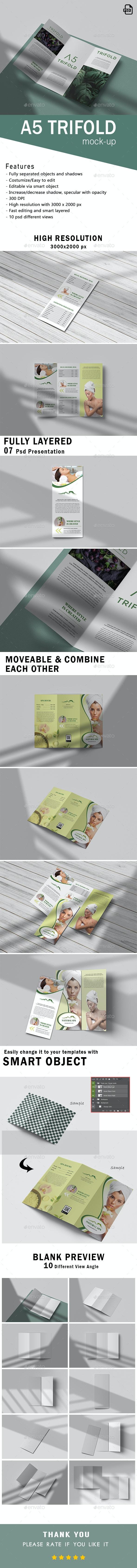 Trifold Brochure Mockups - Brochures Print
