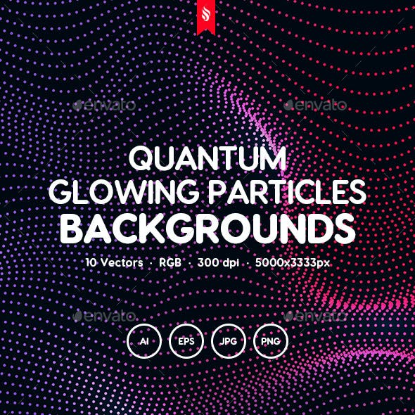 Quantum - Glowing Particles Backgrounds