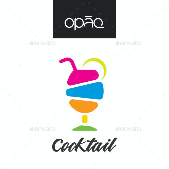 Colorful Cocktail Bar Logo