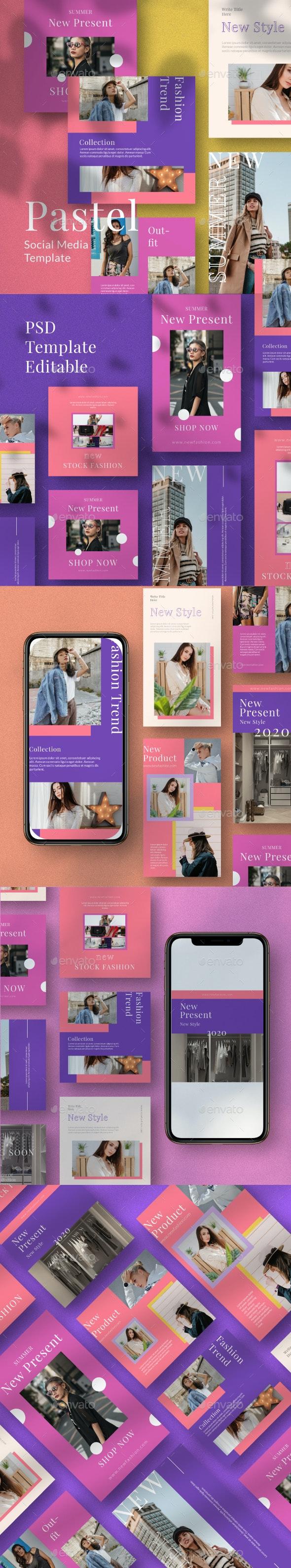Pastel Instagram Template - Social Media Web Elements