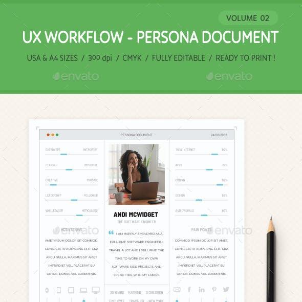 UX Workflow - Persona Document - Volume 02