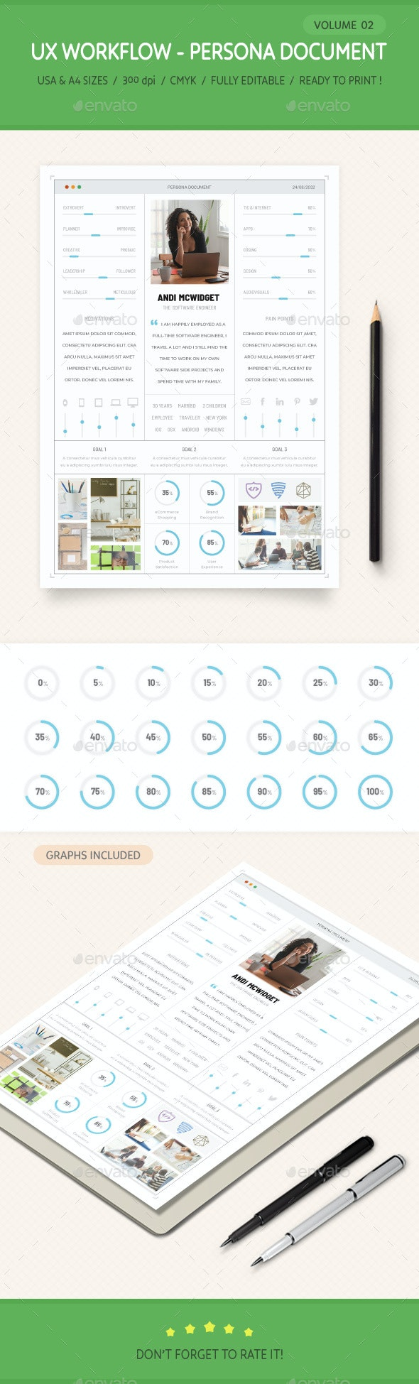 UX Workflow - Persona Document - Volume 02 - Stationery Print Templates