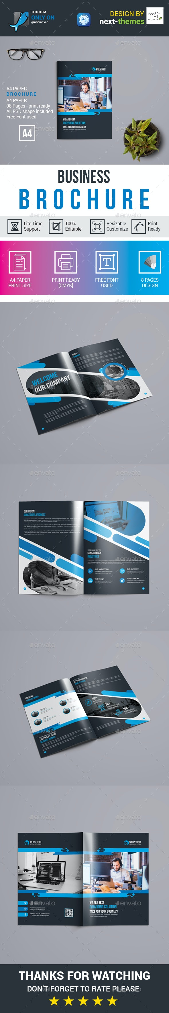 Business Brochure 8 Page - Brochures Print Templates