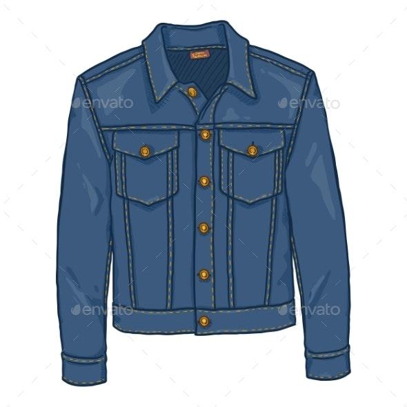 Vector Cartoon Classic Denim Jacket - Miscellaneous Vectors