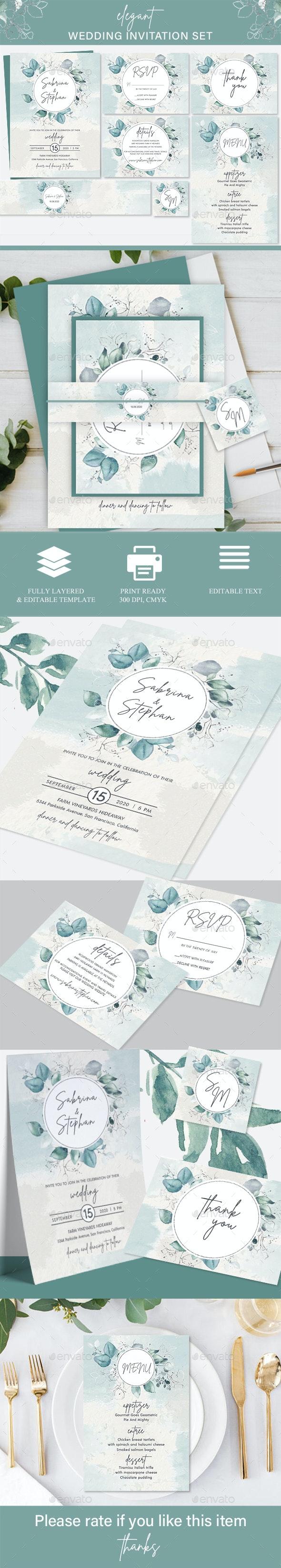 Foliage Wedding Invitation Set - Wedding Greeting Cards
