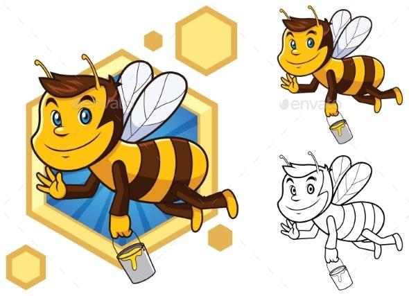 Honey Bee Mascot - Animals Characters