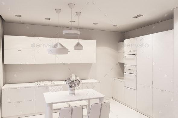3d Render Interior Design in Scandinavian Style - Miscellaneous 3D Renders