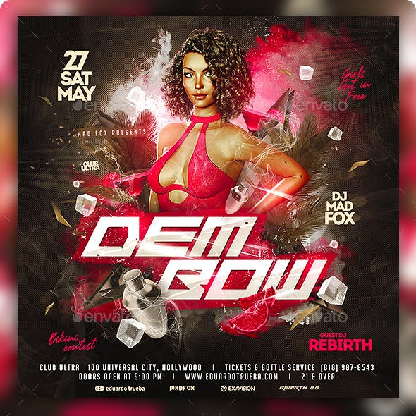 Dembow Party Flyer