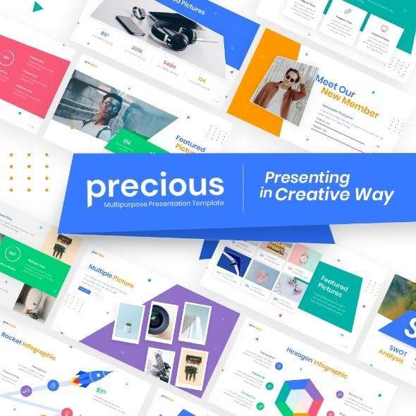 Precious Presentation Keynote Template Fully Animated
