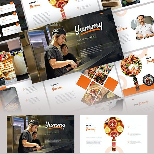 Yummy - Food Google Slide Template