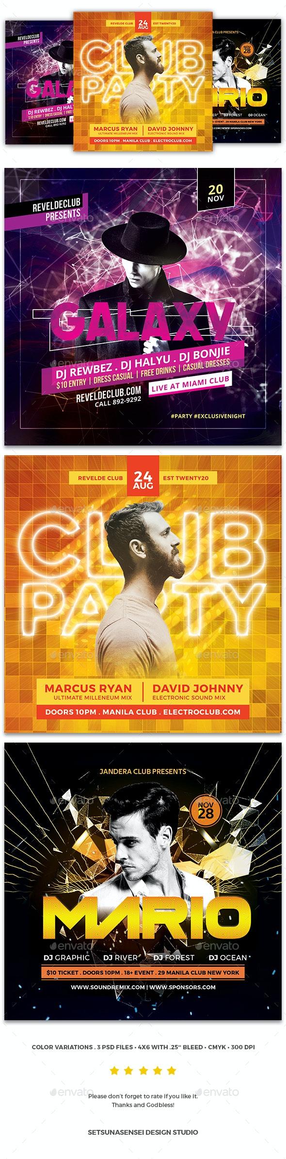 Party Flyer Bundle Vol.123 - Clubs & Parties Events
