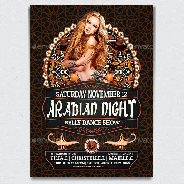 Arabian Nights Flyer Template V2