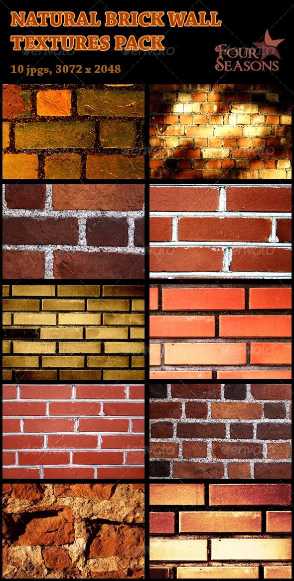 Natural brick wall textures pack - Concrete Textures