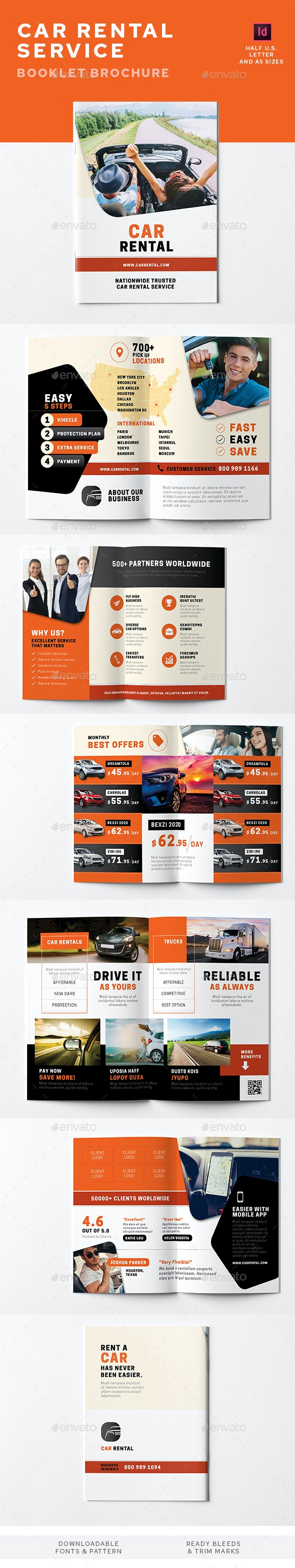 Car Rental Service Information Booklet - Informational Brochures