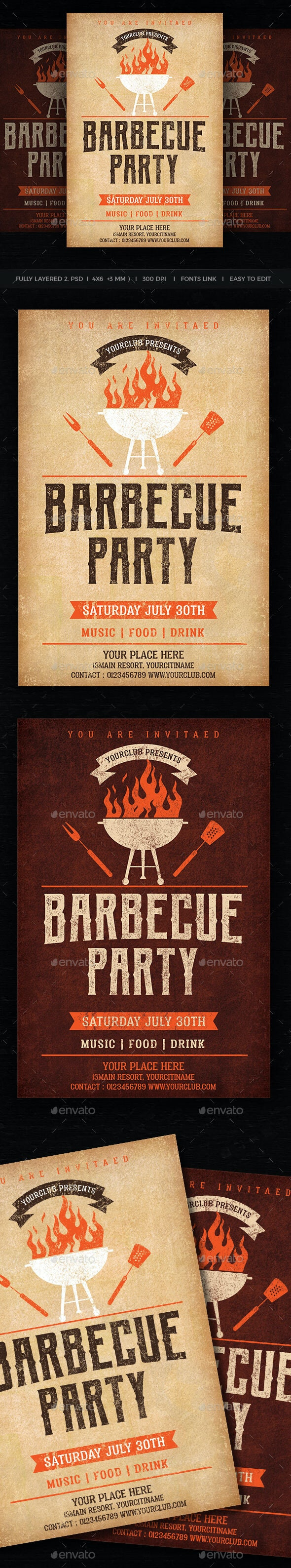 Barbecue Party - Events Flyers
