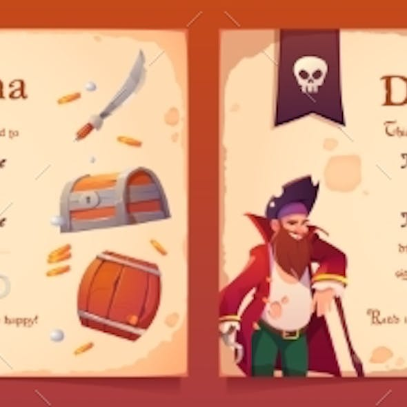 Vector Diploma with Pirate Theme for Kids