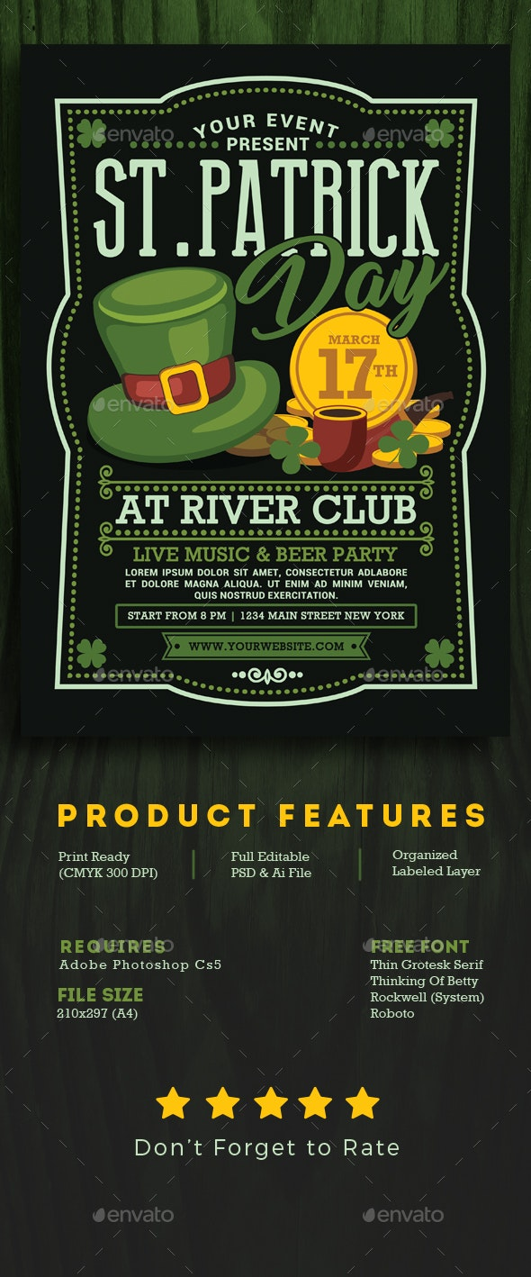 St Partick Day Flyer - Events Flyers