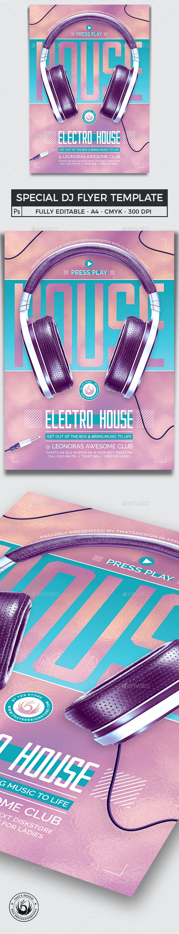 Special Dj Flyer Template V7 - Clubs & Parties Events