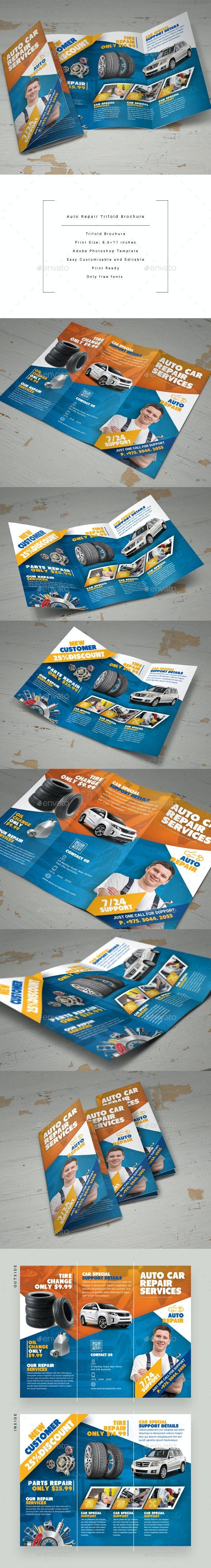 Auto Repair Trifold Brochure - Corporate Brochures