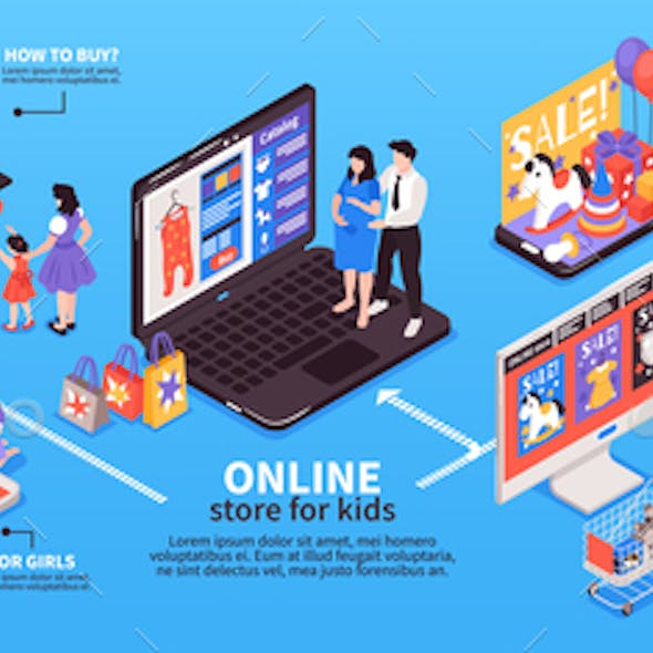 Shopping With Kids Infographics